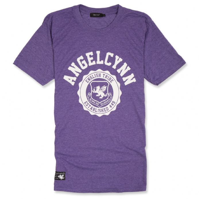 Senlak Angelcynn Anglo-Saxon T-shirt - Heather Purple